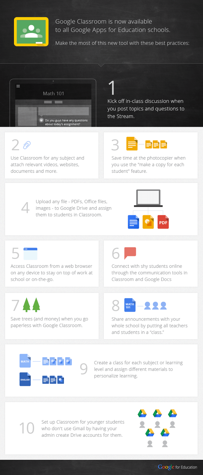 10-Tips-To-Use-Google-Classroom-Effectively-Infographic