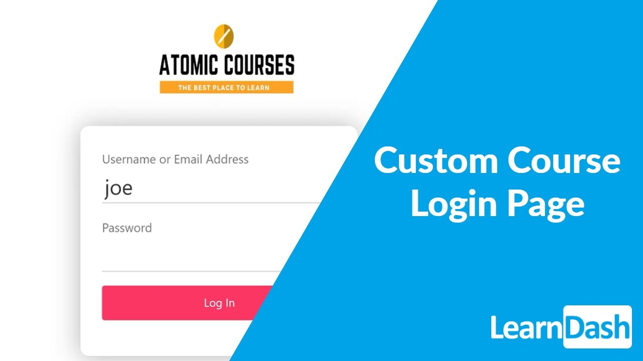 Creating a Custom Course Login Page – LearnDash